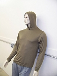 Silverell Anti E-Smog Top:  Unisex Long Sleeve Top w/Hood
