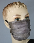 Tru 47 Silver Mesh Face Mask / Pleated Style